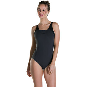 speedo Boom Splice Muscleback Swimsuit Women Oxid Grey/Black